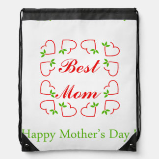 Mothers day drawstring backpack