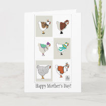 Mother's Day dressed-up hens card