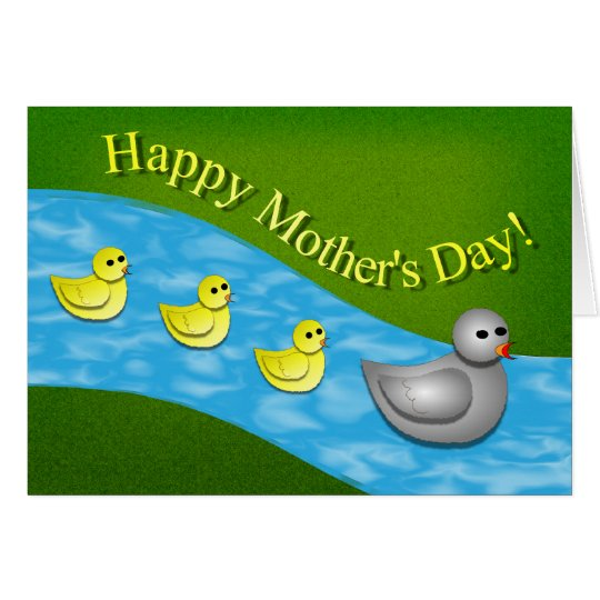 Mother's Day Duck with Ducklings Card