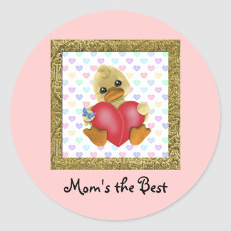 Mother's Day Ducks Classic Round Sticker