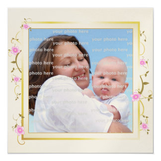 Mothers Day Elegant Floral Frame Card