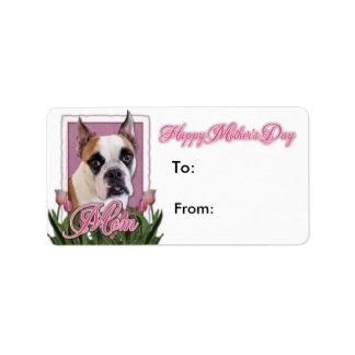 Mothers Day - English Bulldog - Cambridge Personalized Address Label