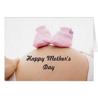 Mother's Day Expectant Mother Baby Girl Card