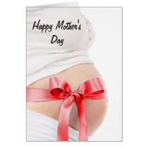 Mothers Day Expectant Mother Girl Card