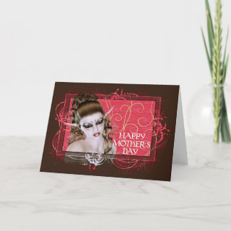 Mother's Day Fantasy Elf Greeting Card
