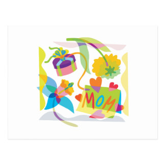 Mother's Day Floral Art Postcard