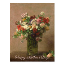 Mother's Day - Floral Bouquet | French Fine Art Postcard