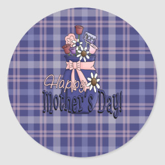 Mothers Day Floral Classic Round Sticker