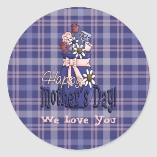 Mother's Day Floral Classic Round Sticker