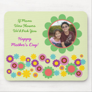 Mother's Day Floral Photo Mousepad