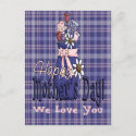 Mothers Day Floral postcard