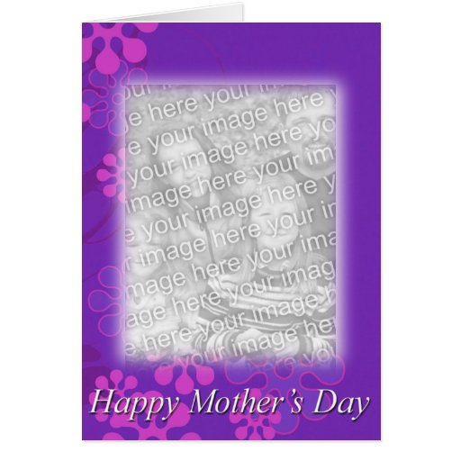 Mother's Day Floral Template Greeting Card