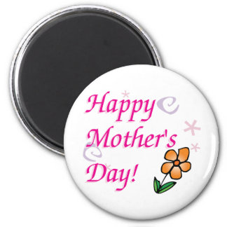 Mothers Day Flower 2 Inch Round Magnet