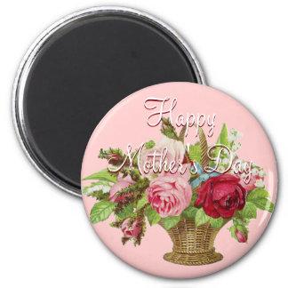 Mother's Day Flower basket 2 Inch Round Magnet
