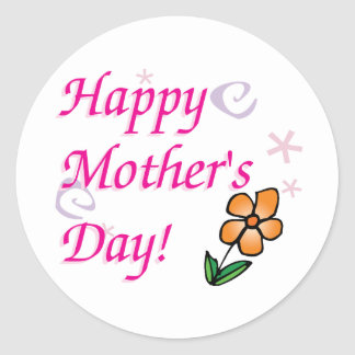 Mothers Day Flower Classic Round Sticker