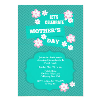 Mother's Day Flower Petals Invitation