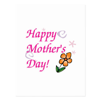 Mothers Day Flower Postcard