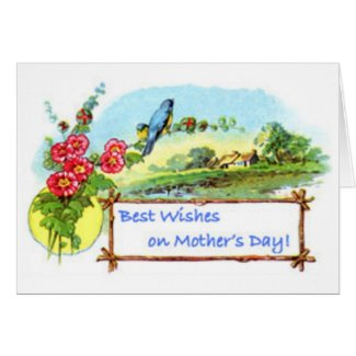 Mothers Day Flowers and Birds Card