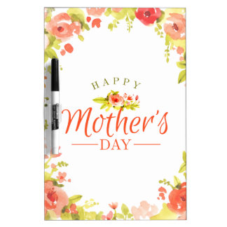 Mother's day flowers dry erase board