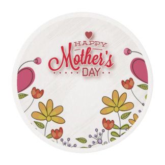 Mothers Day Flowers Edible Frosting Rounds