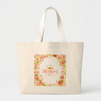 Mother's day flowers large tote bag