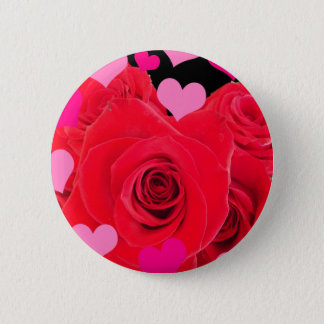 MOTHER'S DAY FLOWERS PINBACK BUTTON
