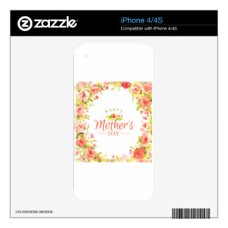 Mother's day flowers skin for the iPhone 4S