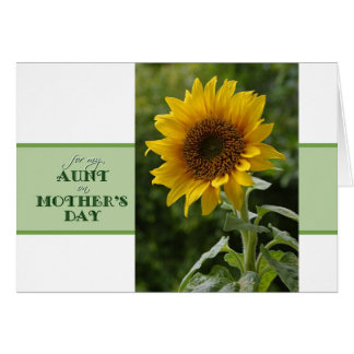 Mother's Day for Aunt Superb Sunflower Card