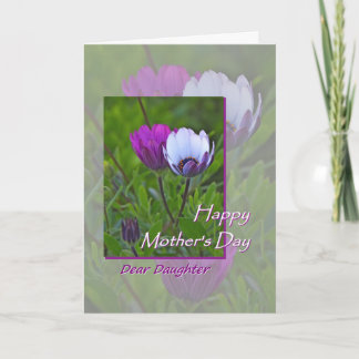 Mother's Day for Daughter Purple Flowers Card