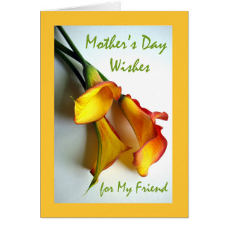 Mother's Day for Friend, Calla Lilies Card