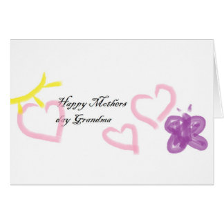 mothers day for grandma card