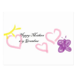 mothers day for grandma postcard