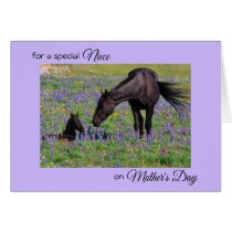 Mother's Day for Niece Mare & Foal Photo Note