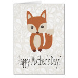 Mother's Day Fox Greeting Greeting Cards