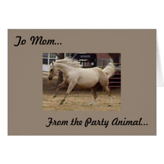 Mother's Day - From Party Animal Greeting Card