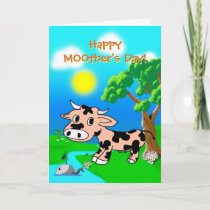 Mothers Day from Pink Princes with pun Holiday Card