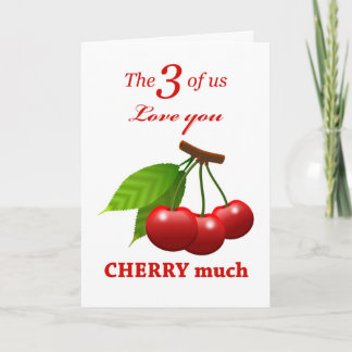 Mother's Day from Triplets, Love You Cherry Much Card