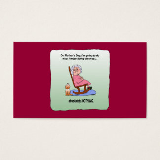 Mother's Day Funny Humor Business Cards