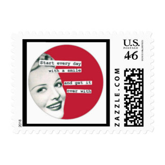 Mother's Day Funny Retro Fifties Housewife Postage