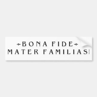 Mothers Day - FunnyMater Familias Bumper Sticker