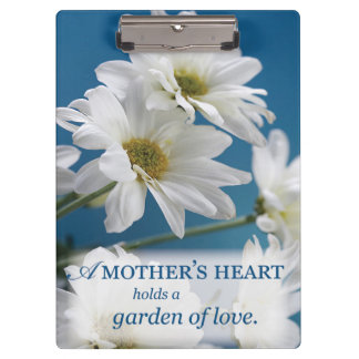Mother's Day Garden of Love, Daisies, Blue Sky Clipboard