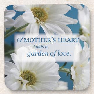 Mother's Day Garden of Love, Daisies, Blue Sky Coaster