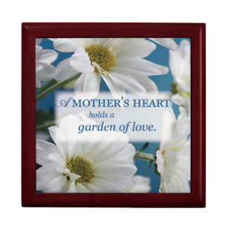 Mother's Day Garden of Love, Daisies, Blue Sky Jewelry Box