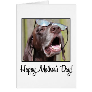 mother's day german pointer card