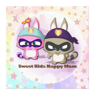 Mother's Day Gift Cute Cartoon Character Canvas
