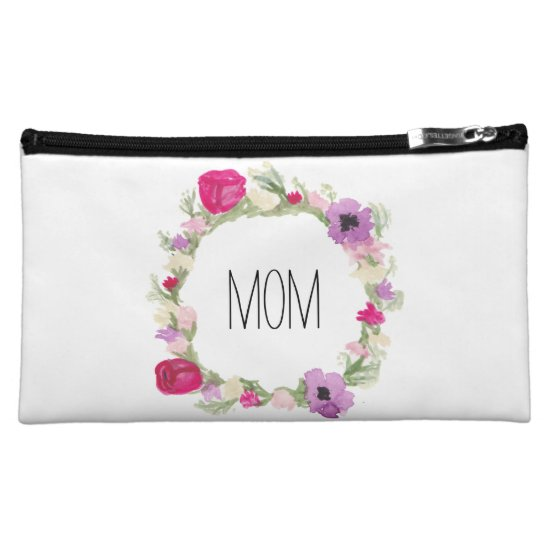 Mother's Day Gift Floral Wreath Cosmetic Bag