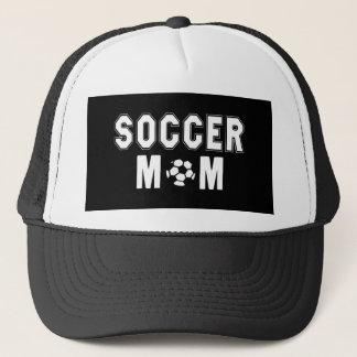 Mothers Day gift Ideas Soccer Mom logo Black Trucker Hat