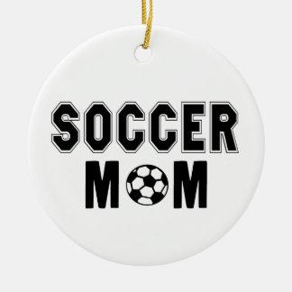 Mothers day gift ideas Soccer MOM logo Ceramic Ornament