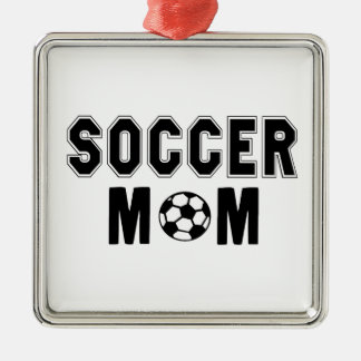 Mothers day gift ideas Soccer MOM logo Metal Ornament