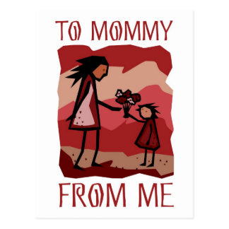 Mother's Day gift: Love and flowers for Mommy Post Card